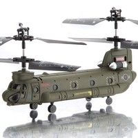 Wish | New Syma S026G S026 3.5CH Infrared Mini Micro Chinook Remote Control RC Helicopter Gyro RTF Wholesale toys (Color: Green)