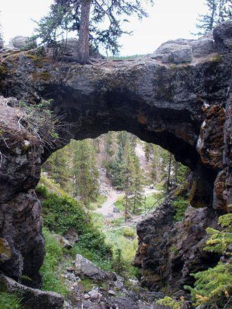 Natural Bridge Trail, Yellowstone National Park, Wyoming