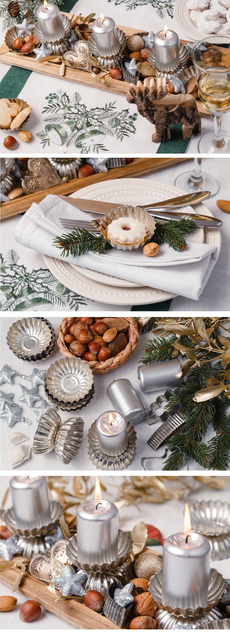 Máte napečeno a formičky zahálí v šuplíku. Vyrobte si z nich krásnou dekoraci na vánoční stůl.