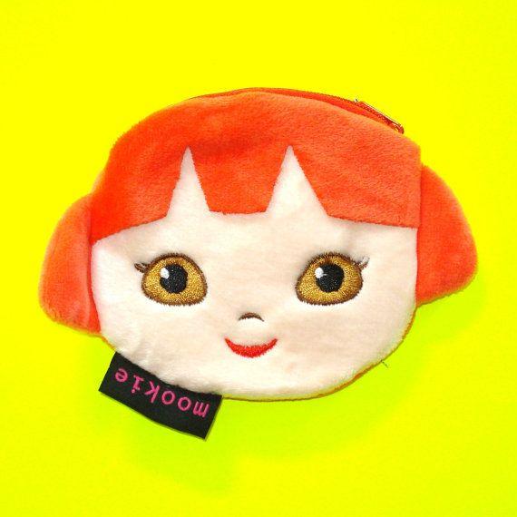 Punk Rock Girl Coin Purse  https://www.etsy.com/ca/listing/279788392/punk-rock-girl-kawaii-kyuuto-red-hair
