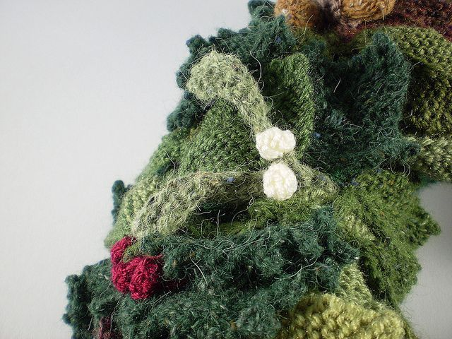 12 Best Knitted Woodland Wreath Images On Pinterest December 2013