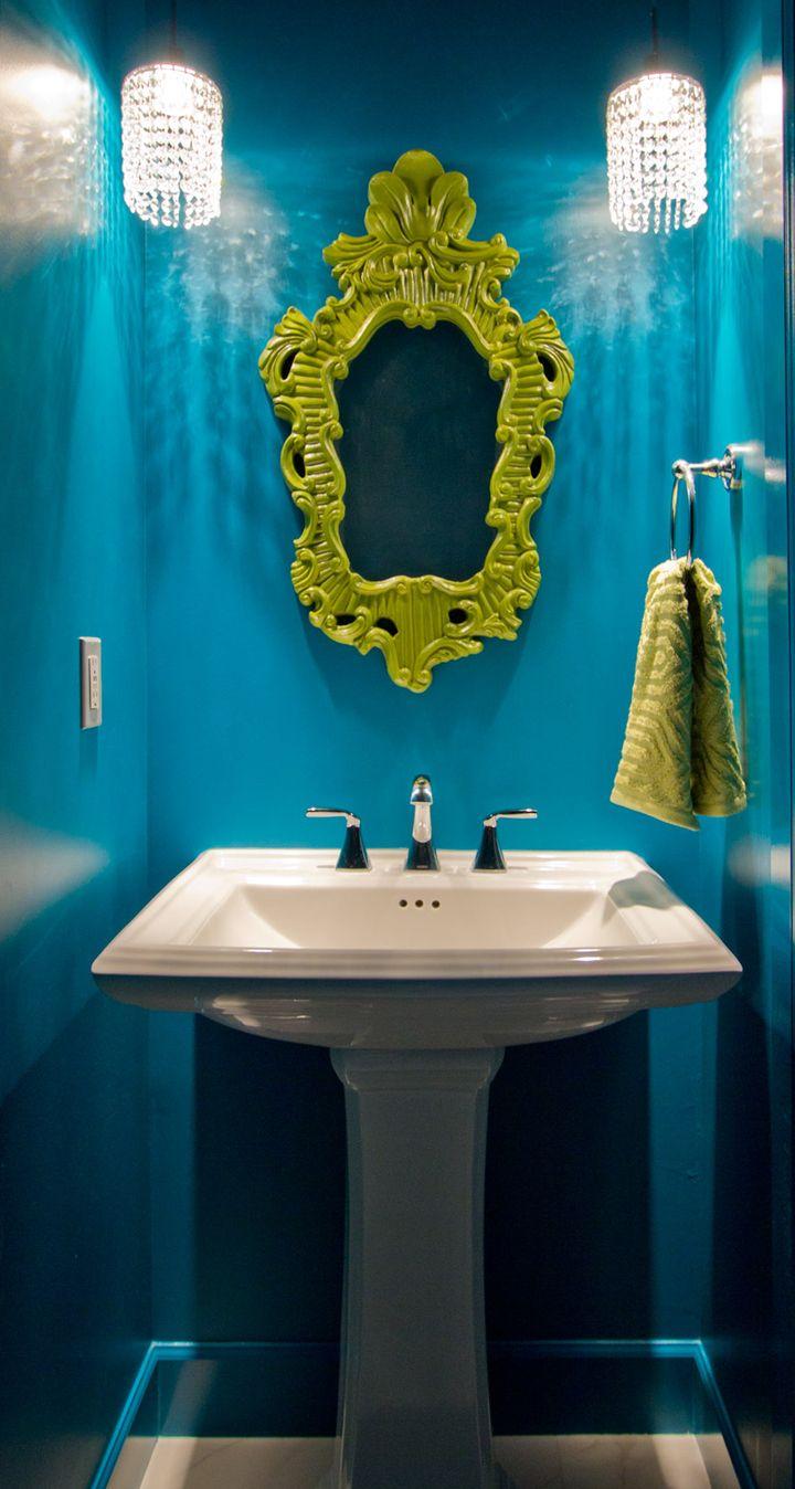Blue bathroom designs - Design Hintz Dark Blue Bathroomssmall