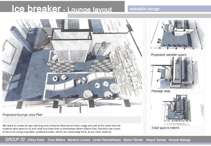The proposed layout of the lounge