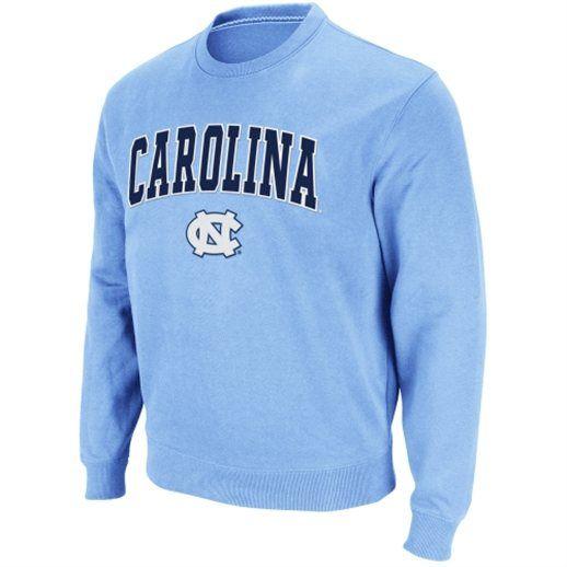 North Carolina Tar Heels Carolina Blue Arch Logo Crew Sweatshirt xl