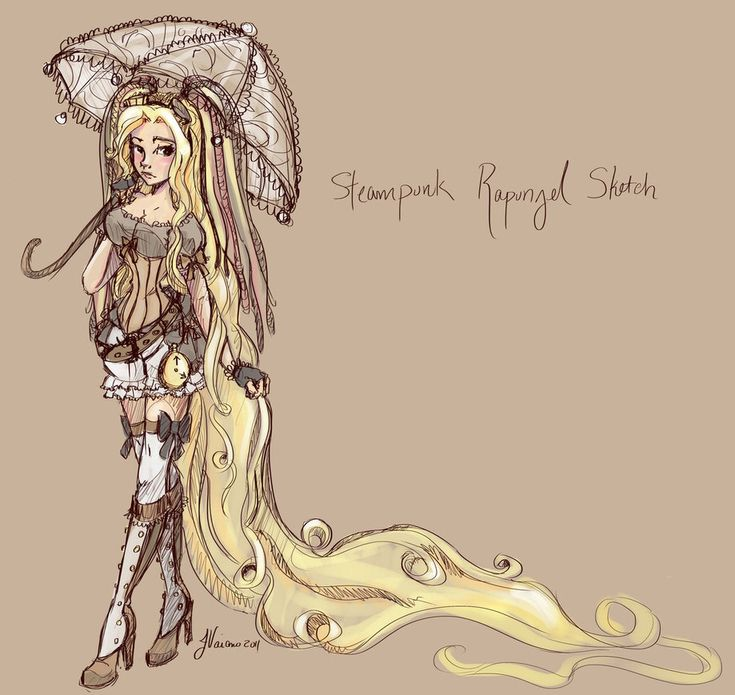 Rapunzel sketch, Rapunzel and Steampunk on Pinterest