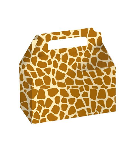 Cookie/Candy Box With Carry Handle Giraffe ( )