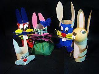 Pomysły plastyczne dla każdego DiY - Joanna Wajdenfeld: Zabawki z rolek - zajączki