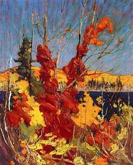 Tom Thomson - autumn foliage 1916
