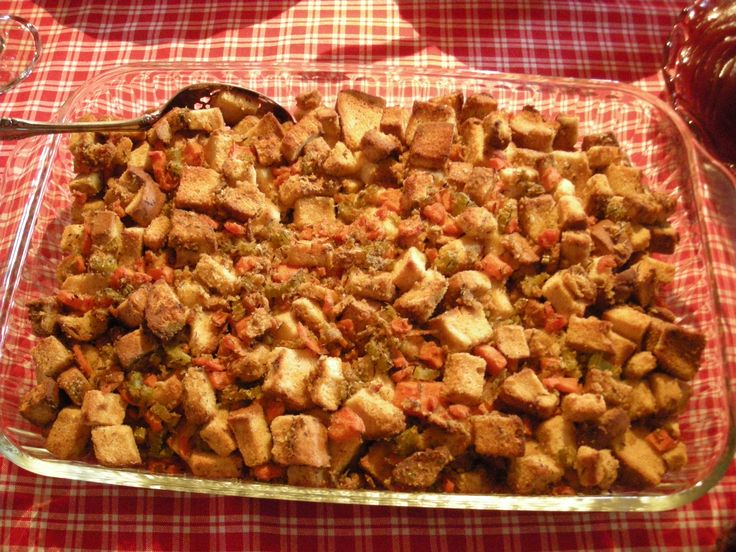 GF stuffing - very good.  I use EnerG tapioca bread, cube and toast