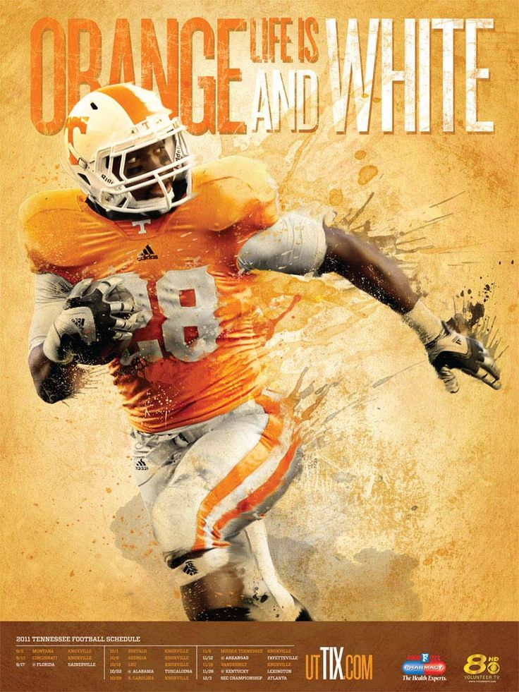 2011 Football Schedule Poster | Ut Athletic Dept | Print | Tombras