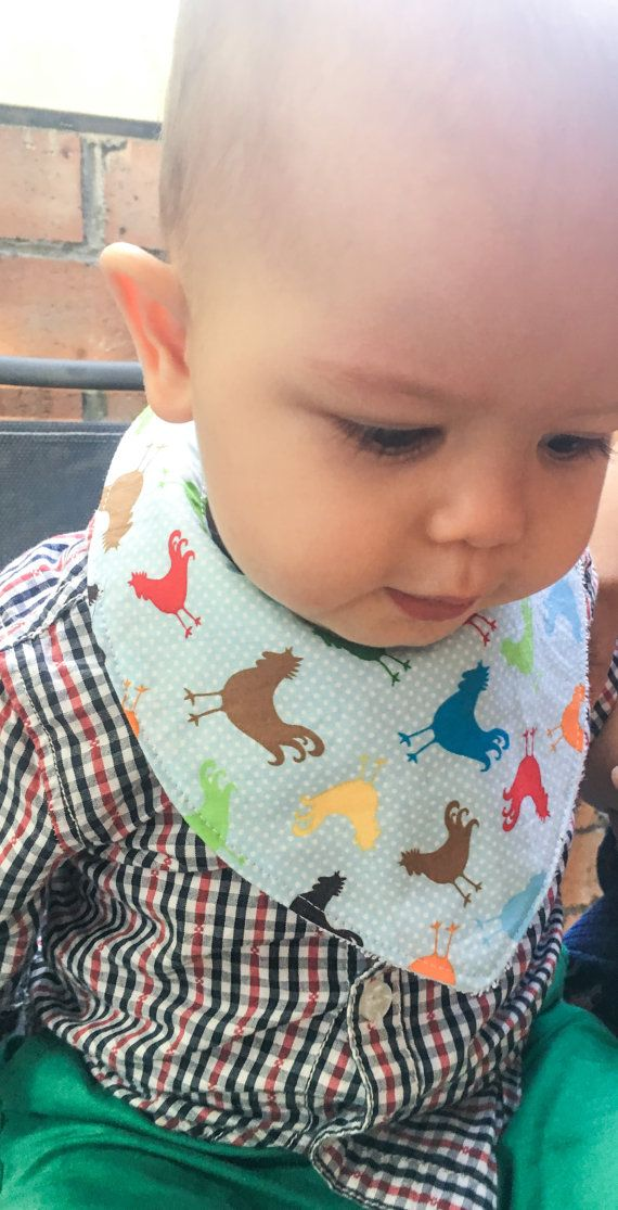 Check out this item in my Etsy shop https://www.etsy.com/au/listing/290944969/rooster-baby-boy-bandana-dribble-bib