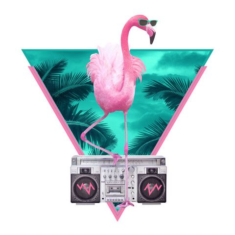 With the tropical feel of Miami and the colors of the 80s, this wall decal print will jazz up your interior. Róbert Farkas is a digital artist located in Budapest, Hungary. He works as a broadcast ani