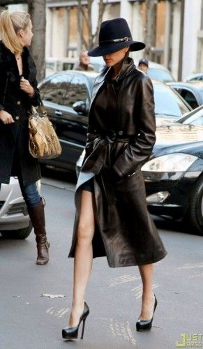 victoria beckham leather trench coat
