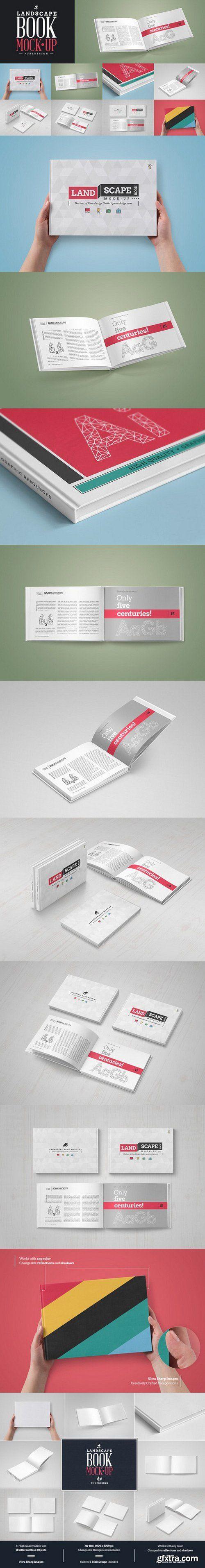 CM - Landscape Book Mock-Up Set 580946
