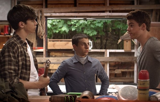 """Nick Robinson, Moises Arias, and Gabriel Basso in """"The Kings of Summer"""" (2013)"""