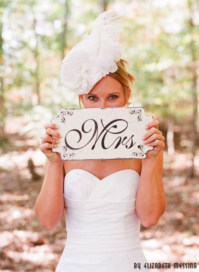 Mr. and Mrs. signs to hang on your chairs at the ceremony or hang above your towel hooks in your bathroom