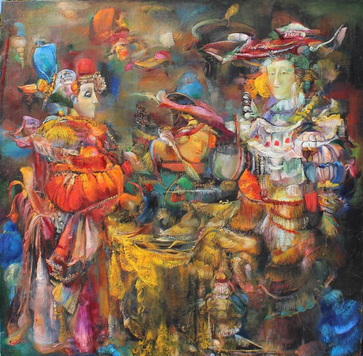 Gayane Khachaturian 1942 - 2009 77x77 inches oil on canvas