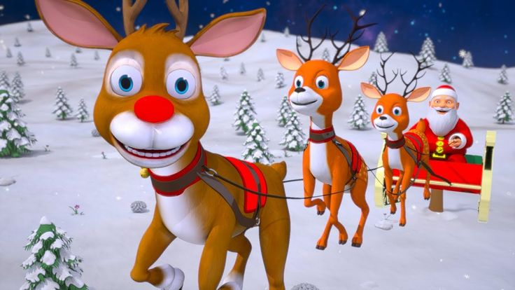 Rudolph The Red Nosed Reindeer | Christmas | Xmas Videos | Cartoons For ...
