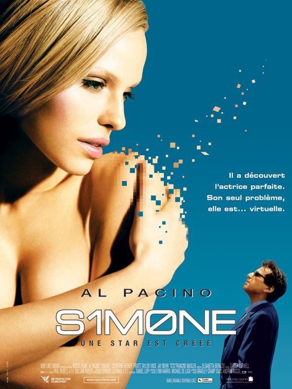 Simone est un film américain d'Andrew Niccol, sorti en 2002 et mettant en vedette Al Pacino, Rachel Roberts, Catherine Keener. Wikipédia
