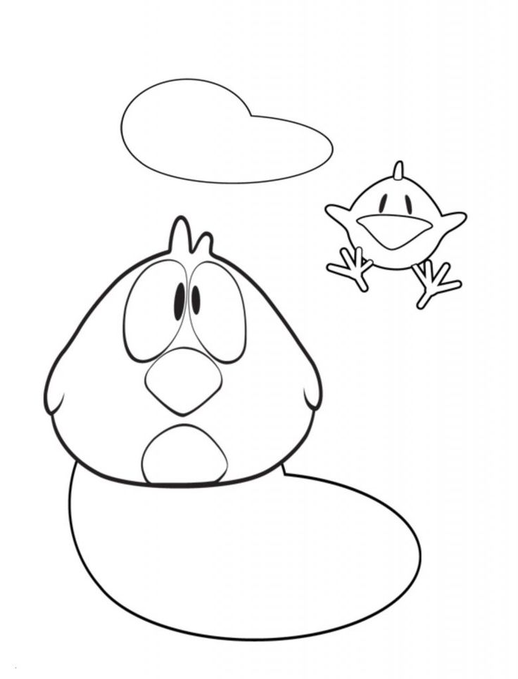 Print Out Coloring Pages Pocoyo Sleepy Bird And Baby