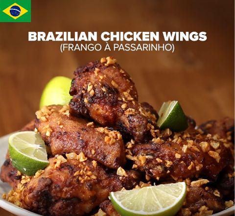 Alitas de Pollo Brasileño (Frango À Passarinho) Para 3-4 personas