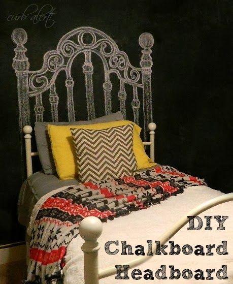 Teen Room: DIY Chalkboard Headboard - Curb Alert!