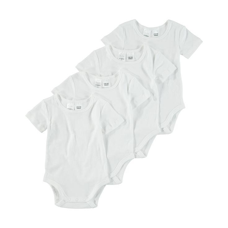 4 Pack Short Sleeve Bodysuit | Kmart