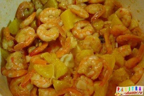 Жареные креветки с чесноком и апельсином (фото-рецепт)