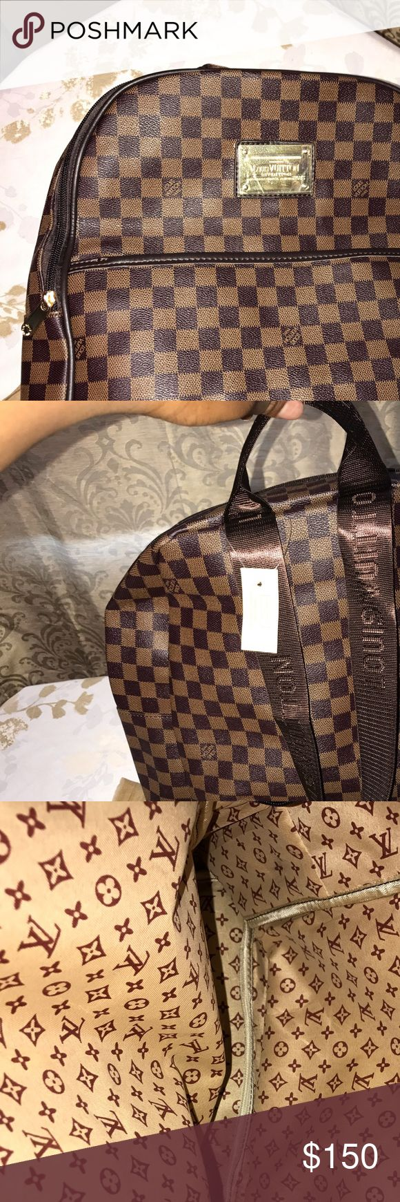 Louis Vuitton Backpack Brown Damier Print Backpack. Price reflects authenticity. Louis Vuitton Bags Backpacks