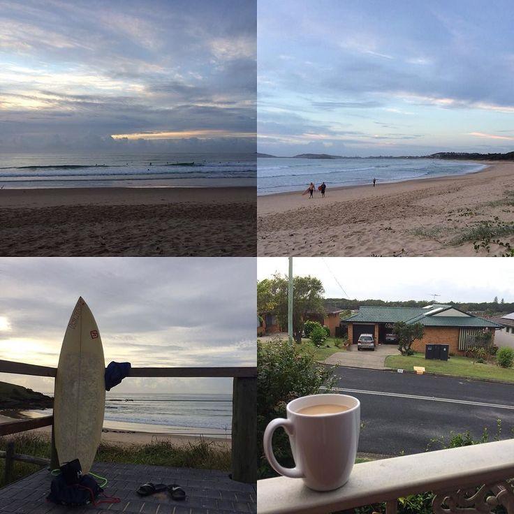 Nice and quiet Australian morning #australia #nsw #coffsharbour #morning #sunrise #surfing #beach #macauleysbeach #coffee #instagood #instasurf #instasummer #instabeach #likeforlike #l4l #lifeisbeautiful #studyabroad #オーストラリア #留学 #サーフィン #ビーチ #ご来光 #日の出 #コフスハーバー #コーヒータイム #最後にして朝の良さに気づく #早起きは三文の得 #これ明日も朝サーフィンっすわー by pachida