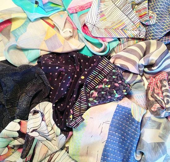 First samples of The Bell Jar scarf collection arrived today! www.belljardesign.com.au