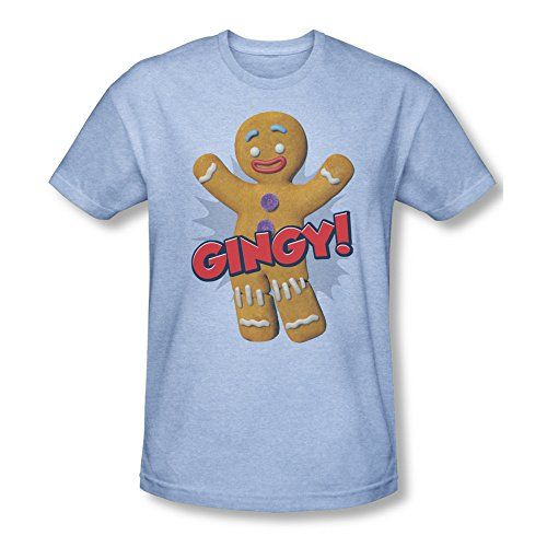Shrek Animated Childrens Comedy Movie Gingy Gingerbread Man Adult HA T-Shirt @ niftywarehouse.com #NiftyWarehouse #Shrek #Movies #Movie