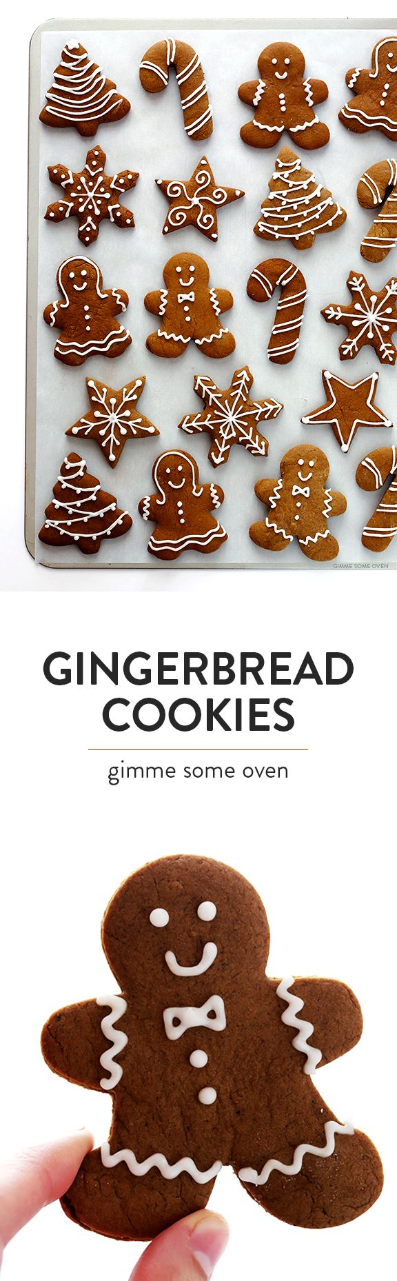Gingerbread Cookies - This classic gingerbread cookies recipe is super delicious, totally easy to make, and perfect for decorating around the holidays!