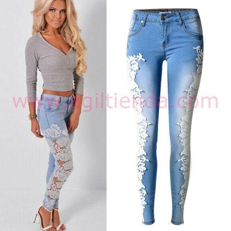 #Sexys #pantalones #vaqueros @mujer #diseño #pitillos con tejido elastico y #efecto #push-up qye destaca la figura estilizando tus curvas para deslumbrar con #estilo #chic #joven y #sexy . Encuentralo en #Tejanos y #vaqueros de http://www.agiltienda.com/es/home/2410-vaqueros-sexys-con-bordados.html #online #shop #taradell @agiltienda.es