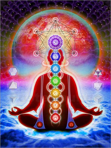 Wandbild von Dirk Czarnota - In Meditation