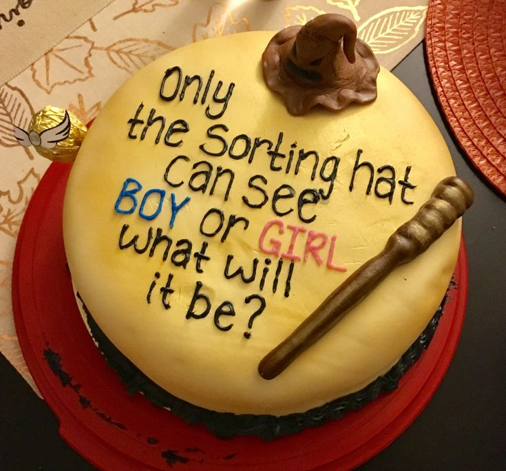 Harry Potter Gender Reveal Cake.