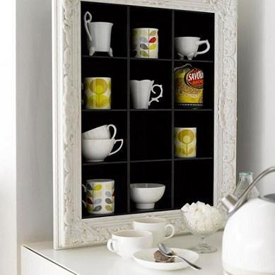 Shadow box decorative frame teacup display shadow for 34 insanely smart diy kitchen storage ideas