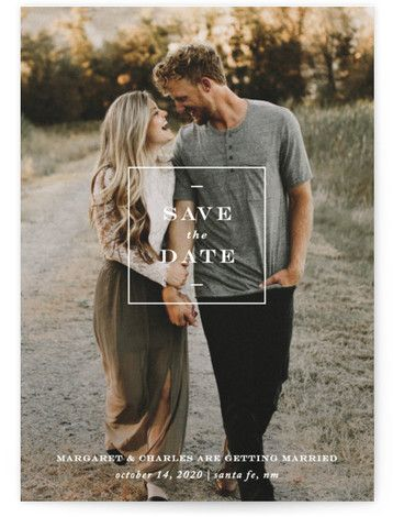 Simple Square Save The Date Petite Cards