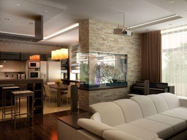Интерьер кухни совмещенной с гостиной - практичная красота 4