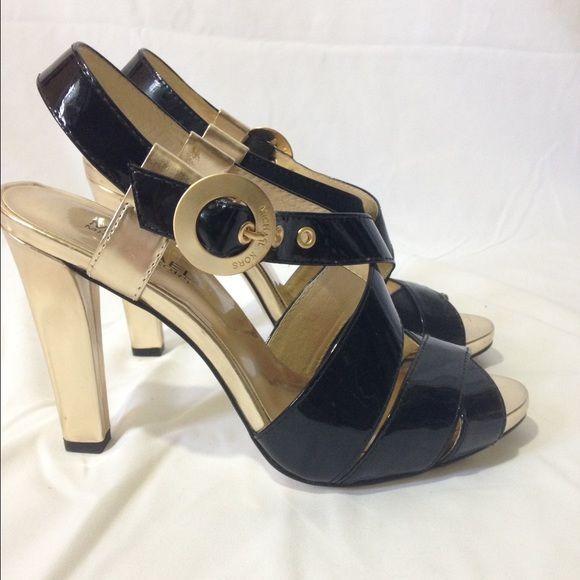 "Scene ""Oxana"" multi color hi-heel patent strappy pump - Size 11 5.75"" heel"