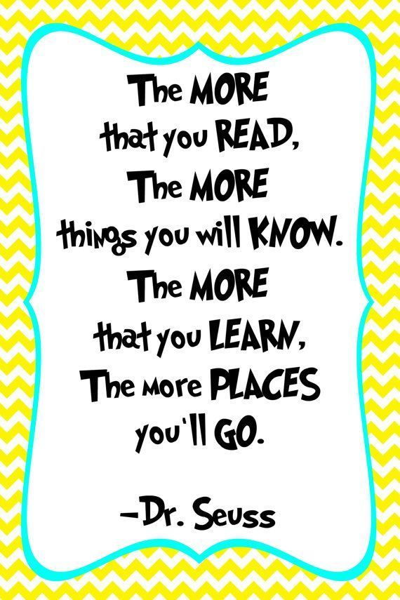 Dr. Seuss Quote Print – Classroom poster or nursery print – digital obtain