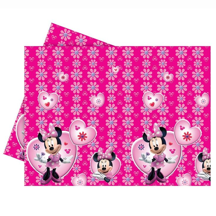 1.8m Disney Minnie Mouse Pink Party Plastic Table Cover #Disney