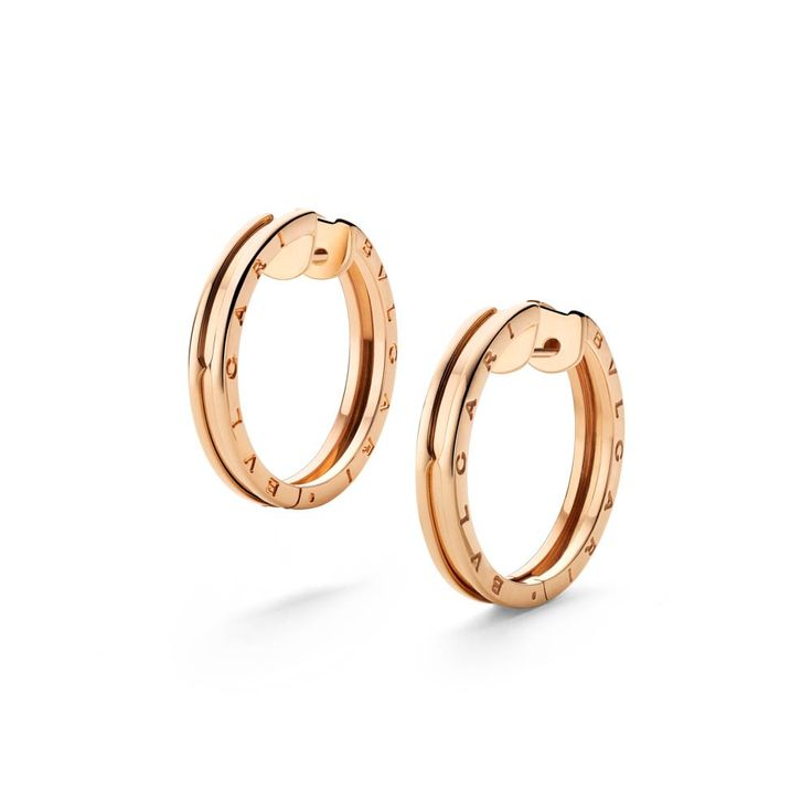 BZero1 Pink Gold Hoop Earrings 345504