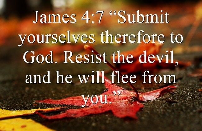 """""""Submit yourselves therefore to God. Resist the #devil and he will flee from you."""" James 4:7  Give sin no place and demons will have no access to you. Be pure! Be holy! Be perfect! As your #Father in #Heaven is pure, Holy and perfect ❤️✝️❤️ #God #Beautiful #Truth #TrueLove #ChildofGod #Inspire #Holy #Bible #Inspiration #Spiritual #Business #Eternal #Entrepreneur #Success #Motivation #Spirituality #Thankyou #Jesus #HolySpirit  #BornAgain #Saved #Christian #Salvation #AreYouSaved?"""