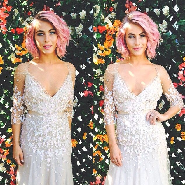 Hermia will be played by Julianne Hough. This is her fancy look when she gets married in the end with Lysander. She dresses up to look good for him as they finally are allowed to be together. She looks so beautiful. This dress looks like flowers to show it was made from the fairies.