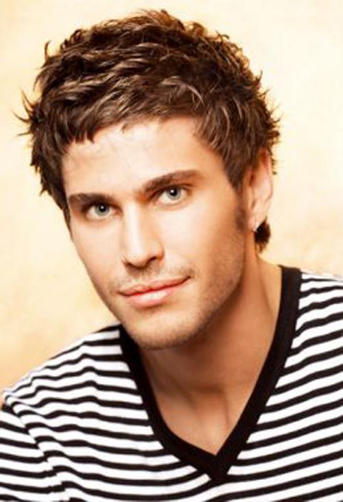 20 Amazing Short Hairstyles For Men : Short Hair Styles For Men  A little on the shellacked/fruity side, but a thought