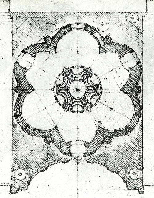 Borromini - design for the dome - Cupola di Sant'Ivo alla Sapienza (1660)