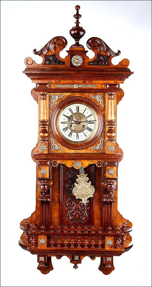 Reloj De Pared Antiguo Kienzle · Antique ClocksWood ProjectsPocket Watches Awesome ThingsBeautiful ThingsVintage FurniturePedestalWall ...