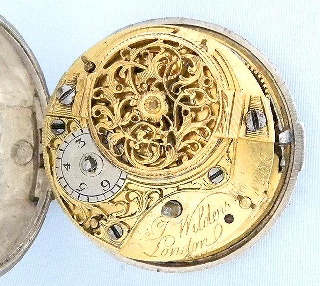 Bogoff Antique Pocket Watches Wilders Painted Dial Repousse Verge - Bogoff Antique Pocket Watch # 6797