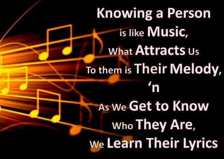 Knowing A Person Is Like Music, What Attracts Us To Them